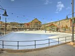 Winter months call for laps around the rink adjacent to Buffalo Lodge Resort.