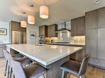 You're sure to feel like a gourmet chef while preparing meals in this fully equipped kitchen.