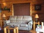 Upper level sleeper sofa