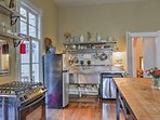 The kitchen is fully equipped with updated appliances to make homemade meals a breeze.
