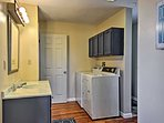 Keep your wardrobe fresh in the in-unit laundry room!
