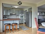 Keep the chef company at the 2-person breakfast bar!