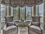 Grand Master Suite Sitting Area with Deer Valley Views