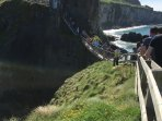 Carrick a rede rope bridge - if you dare !