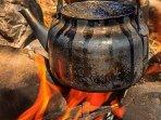 Welcome drink Bedouin tea.