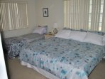 King and twin beds