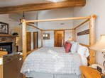 Large Master Suite with Gas Fireplace /  Queen Bed