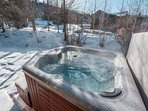Private Jacuzzi hot tub.
