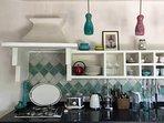 Kitchen detail, Casita mosaica style!
