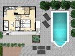 Guest House Floor plan Upstairs
