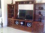 Living room wall unit  satellite tv