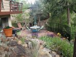 Private Patio & Entry.  Nice place to relax & enjoy meals, drinks, sunrises sunsets & wildlife.