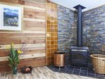 Fireplace to keep you nice and warm when the nights are cool