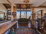 Step into the main entryway for a taste of the grand architecture found throughout the home.