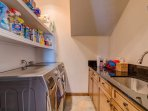 A third laundry room on the first floor is stocked with everything you'll need to stay fresh your whole vacation.