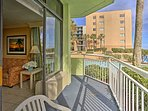 This ground-floor condo opens up onto the wonderful views of the lazy river.
