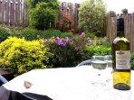 Pretty garden that is a sun trap