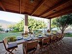 Shaded BBQ terrace