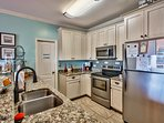 Fully furnished Kitchen with Granite counters and stainless appliances. Cook everything like at home