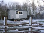 Our cosy shepherd's hut can provide additional space for larger groups. See property no 9397836