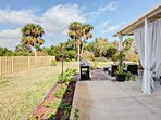 Enjoy the private, backyard ambiance and the bbq gas grill.