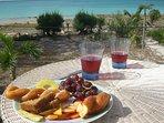 Breakfast on the sundeck