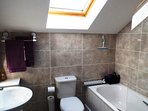 Fully tiled bathroom