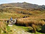Rhyd-Ddu path to Snowdon summit: 15 min drive from Ashcoast House