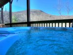Hot Tub View in Winter