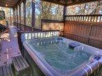 Gazebo Hot Tub and Deck