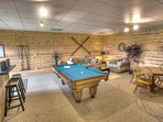 Downstairs Pool Table area