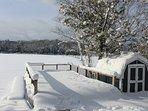Winter is beautiful at Clam Lake, too! Shanty Creek Ski Resort is 15 min. away.