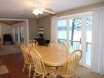 The kitchen is fully stocked and dining table can seat up to 10.