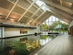 Indoor pool at the spa seconds from the spa