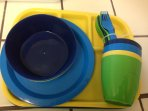 Dishes and utensils for Children.