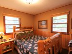 The cabin offers 2 bedrooms for guests to sleep in.