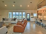 Natural light floods through living room windows and welcomes you to your new home-away-from-home.