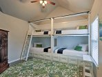 Custom twin-over-twin bunk beds are perfect for the kids!