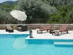 Relax by the pool of Villa Niriides