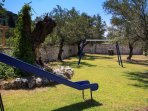 Playground of Secluded family Villa Niriides