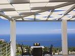 Balcony sea view from Luxurious Villa Irida