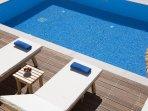 Summer by the pool of Luxury Villa Irida