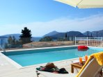 Relax by the pool of Villa Myrtis