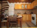Traditional kitchen of Villa Menelia