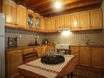 Traditional fully equipped kitchen of Villa Menelia
