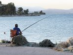 Fishing time in Kiveri village, Greece