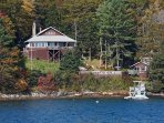 Starboard and Port View Cottages with pool center and private dock