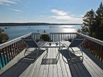 Deck overlooking ocean from Starboard View cottage