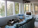 Starboard View sun room with TV Starboard View sun room with TV