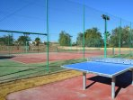 New tennis courts   and outdoor table tennis facilities.
